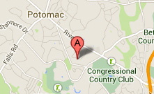 Map of Location of AMH in Potomac, Maryland